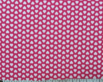 1 yard 100% cotton fabric by Cranston in Valentine's pattern