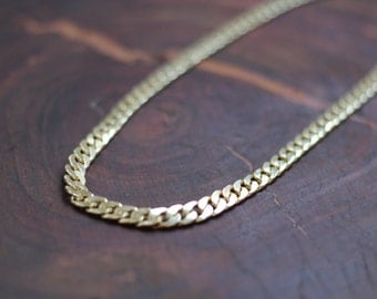 Gold Necklace, Chunky Gold Chain Necklace, Thick Gold Chain Necklace.