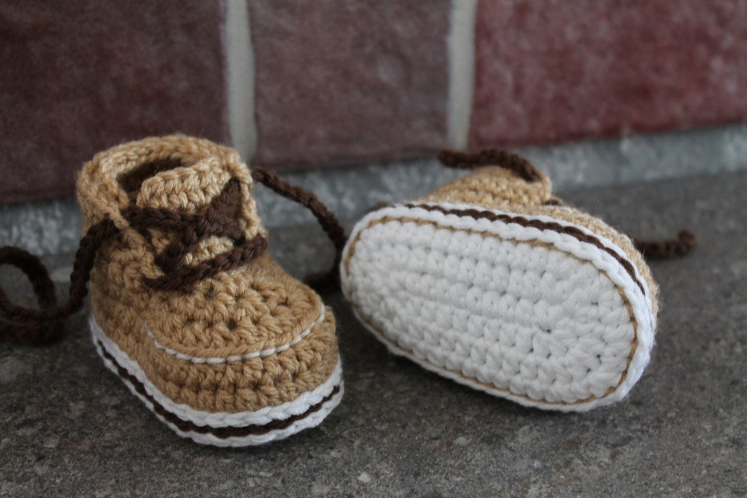 Crochet Newborn Baby Patterns Free : Baby Boys Boots PDF Crochet Pattern Forrester Boot by ...