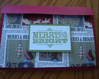 Stampin up Merry Christmas Gift Card Holder 5019