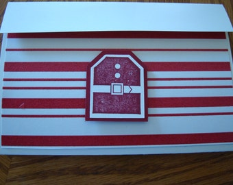 Stampin up Merry Christmas Gift Card Holder 5021