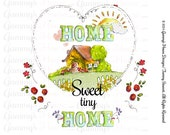 Home Sweet Tiny Home Customizable Text Tiny Cabin Horizontal Print