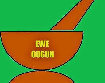 Ako Ewe Merin Ewe Oogun Yoruba Four Male Leaves