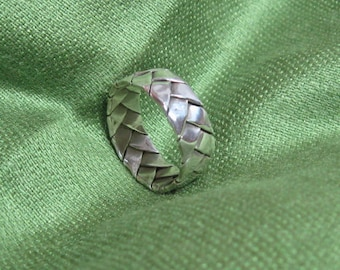 Vintage Braided Sterling Ring; Let It Weave a Spell on You . . .