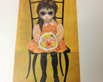 Margaret Walter Keane VTG 1960's Lithograph Waiting for Grandmother Big Eyes SALE!