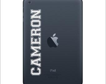 Custom Name - Apple iPad Decal Sticker Art Skin Vinyl iPad 1 iPad 2 iPad 3 iPad Mini