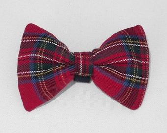Christmas Dog Bow Tie, Pet Bow Tie, Bowtie, Collar Attachment