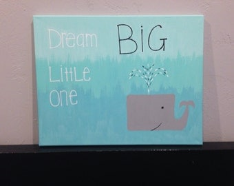 Dream BIG Little One ombre canvas painting