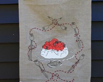 Pavlova tea towel