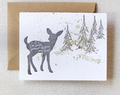 letterpress card / quite fawn'd of you my dear