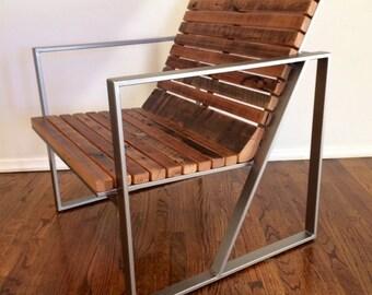 Reclaimed Wood Outdoor / Patio Indoor Lounge Chair