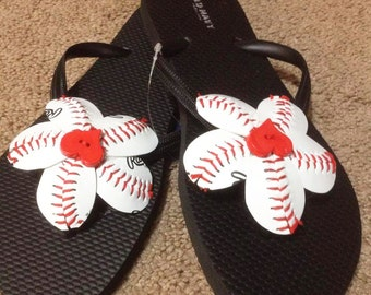Baseball or Softball  Flip Flops (Old Navy Flip Flops)