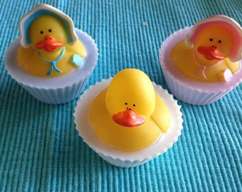 Baby shower Duck favor soaps, baby shower favors, duck baby shower favor soaps, toy imbed soaps
