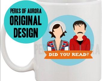 "Portlandia inspired- ""Did you read?"" coffee mug"