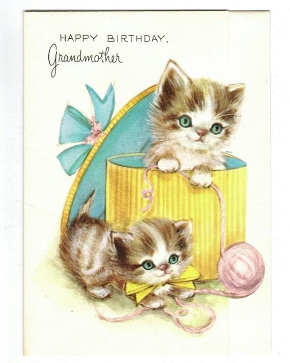 vintage birthday cats cat - photo #10