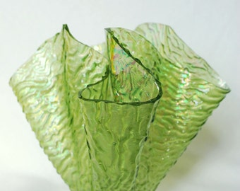 Free shipping Green handkerchief vase