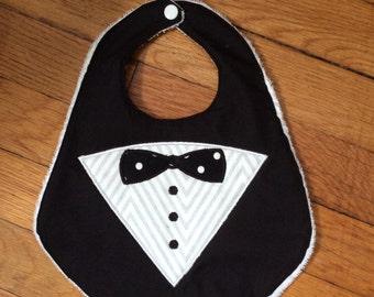 Handmade Baby Bib - Handsome Tuxedo