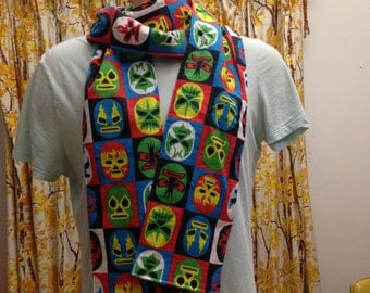 mexican wrestling scarf - Lucha Libre - 100% cotton flannel - handmade!.