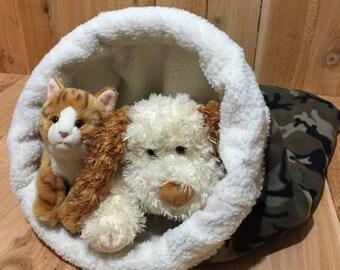 Medium, Snuggle Den, Pet Bed, Sleeping Bag, Den, burrow bed. dog sleeping bag, snuggle sacks, cave beds