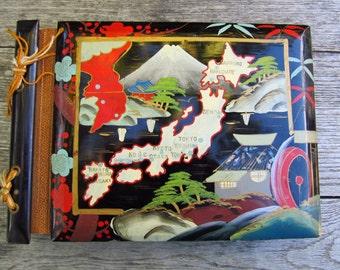 Vintage Lacquer Japan Scrapbook - Lacquer Wood Scrapbook