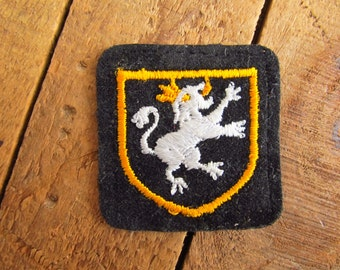 Vintage Velveteen Royal Crest Patch - Royal Goat Dog Crest