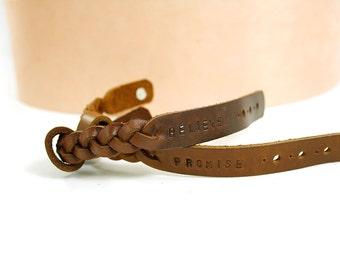 2x His Hers Bracelet, Matching Leather Bracelet, Couple Bracelet, Braided Bracelet, Custom Bracelet, Engraved Bracelet,Personalized Bracelet