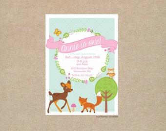 Woodland Animal Party Invitation