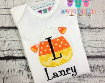 Candy Corn Baby Outfit - Baby Halloween Outfit - Girl Halloween shirt