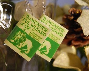 Wizard of Oz Book Earrings