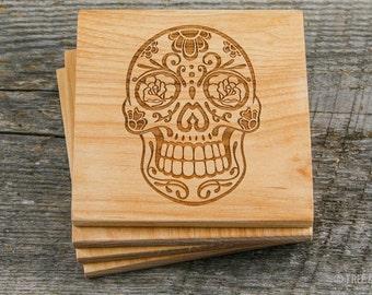 Wood Coasters - Laser Engraved (Alder Square)