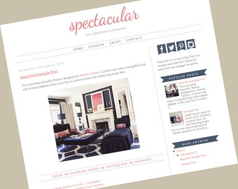Premade Blogger Templates - Responsive blogger template - Spectacular