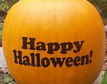Fall Pumpkin Decal/ Pumpkin Sticker/Happy Halloween Sticker/Fall Decals/Decal For Pumpkin/Happy Halloween/ Window Decal