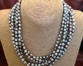 """18"""" Fresh Water Pearl Multi Strand Necklace"""