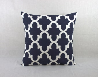 Navy Accent Pillow - Decorative Pillows for Couch - Decorative Sofa Pillows