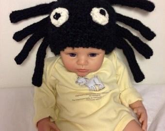 Halloween/Winter Black Spider Hat