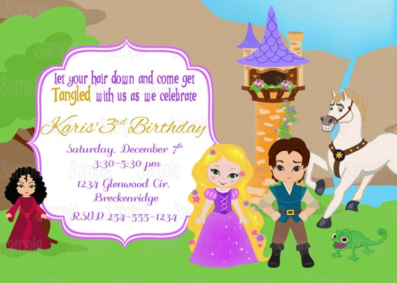 Tangled Printable Birthday Party Invitation plus FREE blank – Blank Printable Birthday Invitations