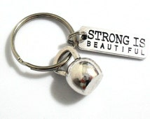 Kettlebell Key Chain, Strength Training Keychain, Kettlebell Charm Fitness Instructor Gifts, Gym Bag Accessories, Weight Loss Key Chains