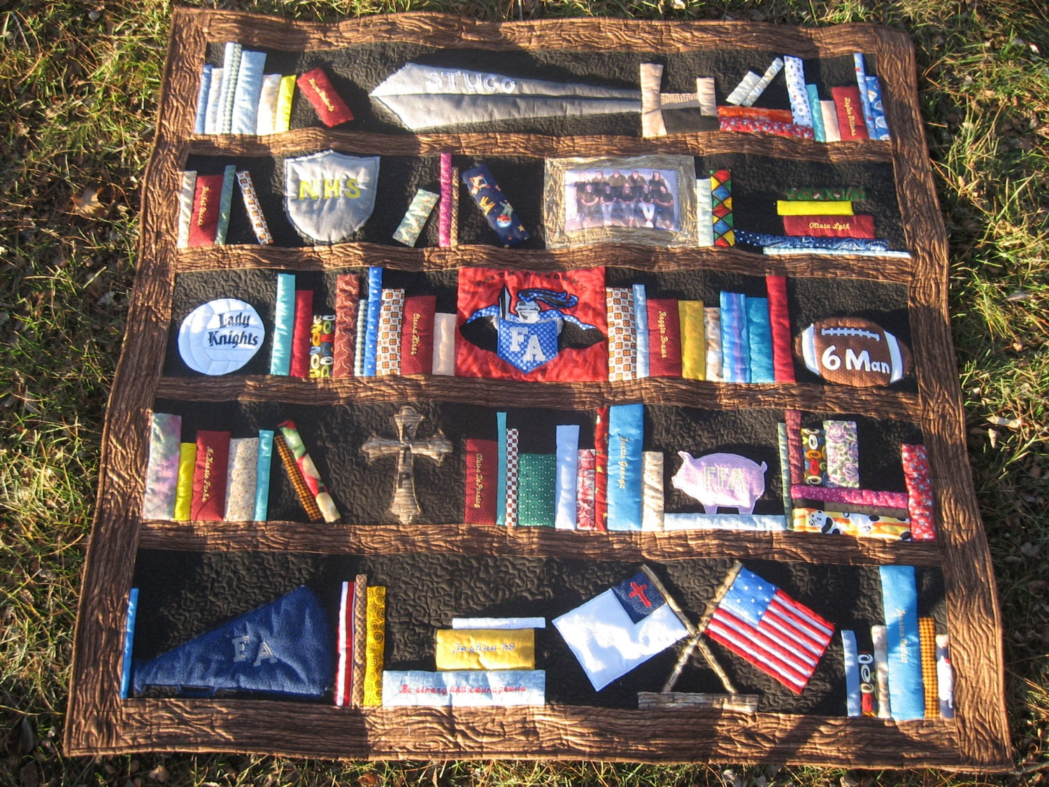 Custom Bookcase Quilt Bookshelves Books By Sewitseamscreations