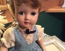 Vintage Effanbee Suzanne  Doll Sleepy Eyes Jointed