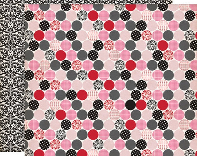 2 Sheets of Echo Park Paper YOURS TRULY 12x12 Valentine's Day Scrapbook Paper - Crush