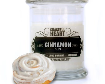 Cinnamon Soy Candle, Soy Container Candle, Scented Soy Candle, 12 oz, Natural Soy Candle, Kitchen Candle, Holiday Candle