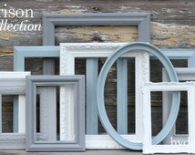 Shabby Chic Decor / Upcycled Distressed Picture Frame Set / Nursery Decor / Gallery Wall Frame Set /  Custom Order / Morrison Collection