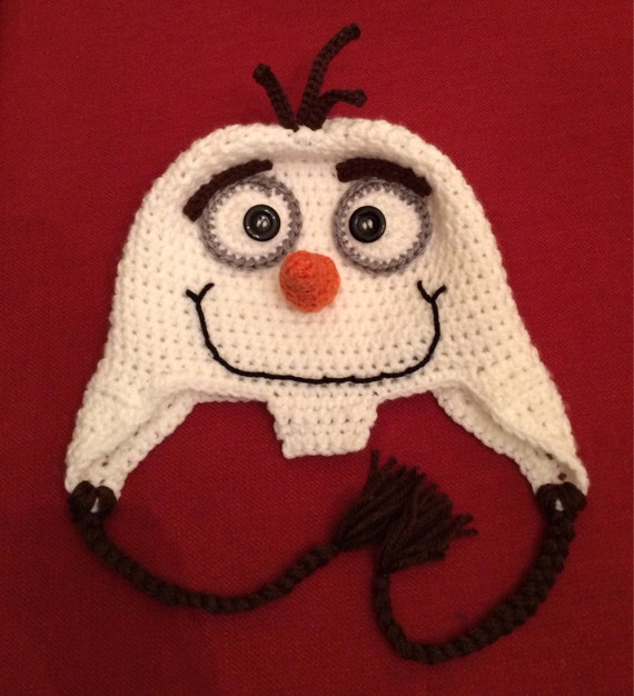 PATTERN ONLY Frozen Olaf Hat Crochet Pattern