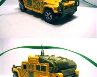Hummer H1 Military 4x4 Jeep Truck  Matchbox Ornament