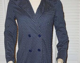 VTG Diane Von Furstenberg DVF Jacket Blazer Italy Saks Fifth Avenue SZ 10 Blue