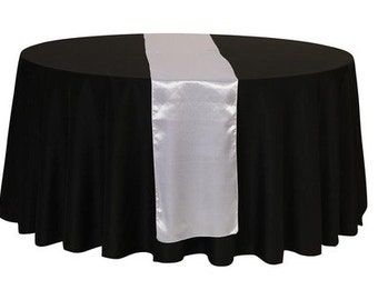 Silver Satin Table Runner | Wedding Table Runners