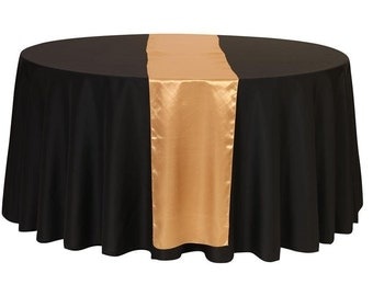 YCC Linen   Gold Satin Table Runner | Wedding Table Runner