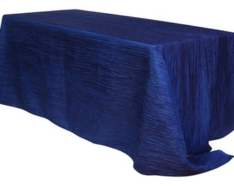 Marvelous YourChairCovers   90 X 156 Inch Navy Blue Crinkle Taffeta Rectangle  Tablecloth | Wedding Tablecloth
