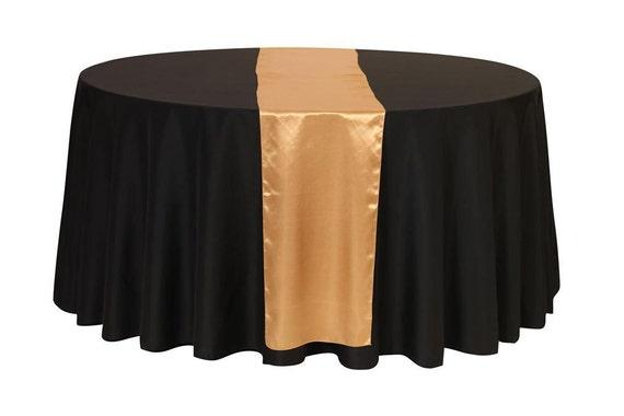 Gold Satin Table Runner Wedding Table Runners