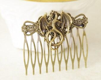 50% OFF Dragon Hair Clip / Fantasy Hair Clip / Dragons Hair Comb / Fantasy Dragon Hair Accessories / Dragon Stocking Stuffer